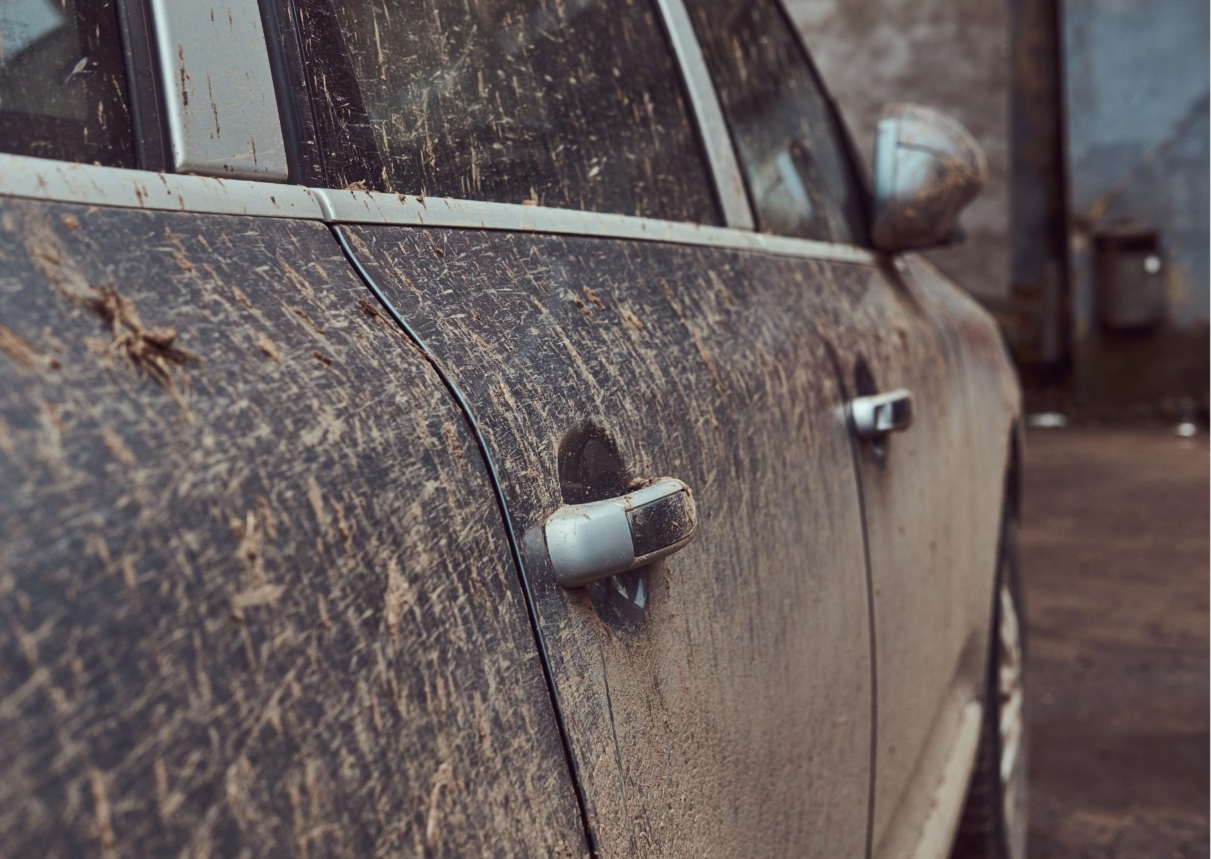 špinavé auto